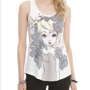 Illustrated tinker bell tank top